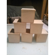 Cajitas De 5x5x5 De Fibrofacil X10 Unidades