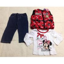 Conjunto Disney Minnie Para Bebes Y Niñas