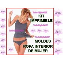 Moldes Y Patrones De Conjunto Ropa Interior Mujer