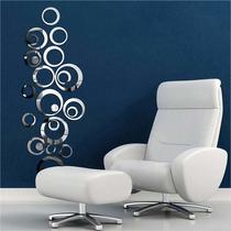 Quadro Decorativo Círculos Criativo - Acrílico Espelhado