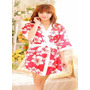 Babydoll Kimono Rayón Seda Satin Sexy Pijama Lencería - Cali