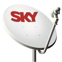 Antena 60cm Banda Ku/lnb Simples/ 20m Cabo/kit Fixação Comp.