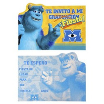 Monster University Invitaciones Mike O Sully