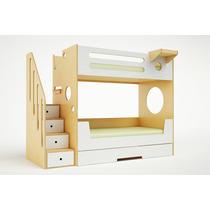 Dormitorio Infantil Camas Superpuestas + Cama Deslizante