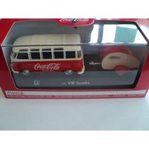 Coca Cola Volkswagen Samba Bus With Trailer 1962 Escala 1/43