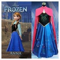 Disfraz Frozen Adulto Princesa Elsa Ana Vestido No Disney