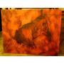 Cuadro De Pintura Rupestre Relieve Bisonte De Altamira.