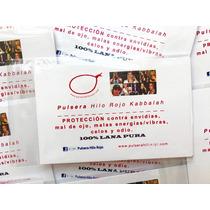 Pulsera Hilo Rojo Kabbalah P-6 Instrucciones, Libro, Oracion