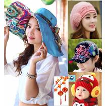 Gorros Moda Japonesa Sombrero Playa Mujer Hombre Niño Unisex
