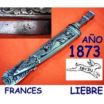 Cuchillo Frances Liebre Antigua Plateria Criolla Plata