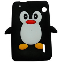 Capa Silicone Pinguim Tablet Cce Motion Tab Tr71 + Pelicula