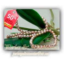 Collar Y Pulsera De Perlas Irregulares. 3 Set X $29.990