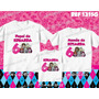 Lembrança De Aniversario Monster High Kit Camisetas C/ 3