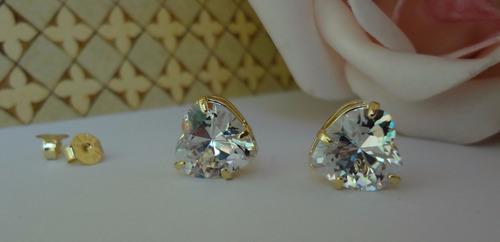 67b278a1305 brinco folheado a ouro 18k gema zircônia grande coração 1012. Carregando  zoom.