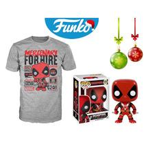 Set Deadpool Funko Pop Tee Pelicula Playera Marvel