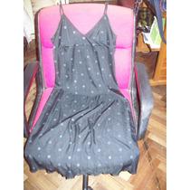 Aurojul-solero Jersey Seda Negro C/florcitas Gris-ver-t.m