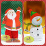 Souvenirs Toalla Navidad X10 Papa Noel, Cupcake, Renos