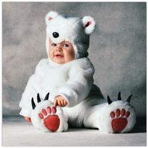 Disfraz De Oso Polar Bebe Primavera Animales 6 A 18 Meses