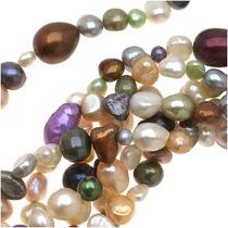 Mezcla De Perlas Cultivadas Colores Claros Y Formas Variad