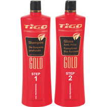 Escova Progressiva Gold Tigo Cosméticos Kit 2 Passos 1000ml