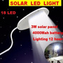 Foco Solar Led Iluminación Exterior 4000 Mah 18led Facil Ins