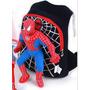 Promoção Bonita Mochila 3d Spiderman Preta