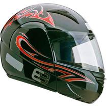 Capacete Esportivo Moto Ebf E08 P05 Tribal 60 Preto Vermelho