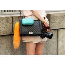 Luxuosa Bolsa Preta Chanel Frete Grátis! Fotos Reais