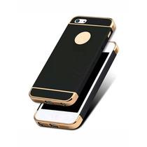 Funda Iphone 5/5s/5se 3 En 1 Luxury Soft Cromo Y Metalico