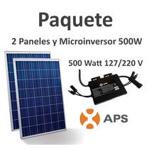 Panel Solar Paquete 500w Con Microinversor Interconexion Cfe
