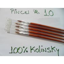 Oferta Hoy.! Pincel 100% Kolinsky Para Resina # 10 Original