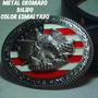 Cinturón Con Hebilla U.s.a. Lujo,metal Cromado Relieve,nuevo