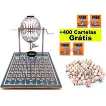 Bingo Nº 1 Completo Cromado 75 Bolas + 400 Cartelas Grátis!