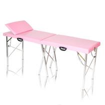 Mesa De Massagem Dobrável Divã Maca Portátil Reclinável Rosa