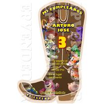 Tarjetas De Invitacion Toy Story Tipo Bota - Epvendedor