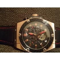 Relógio H Automático Edição F1 Tur Billon Dourado