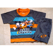 Mickey Mouse Conjunto Sweater Franela Import Original