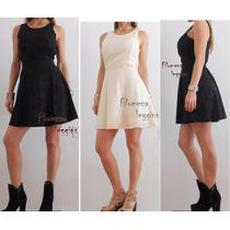 Vestido Corto Pin Up Falda Plato,negro,natural. Los+lindos!