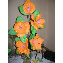 Arranjo De Flores Grande E Médio E Porta Docinhos Em Eva