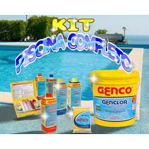 Kit Genco Limpeza Piscina Completo Ph Clarificante Cloro
