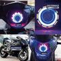 Faro Led Con Ojo De Angel Bi-xenon 30w Para Moto Universal