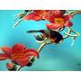 Pintura Al Oleo Sobre Tela Cuadro Aves Y Flores