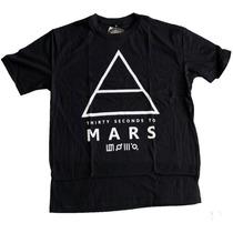 Camiseta Thirty Seconds To Mars Logo Stamp