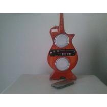 Rádio Portátil Usb Sd Guitarra