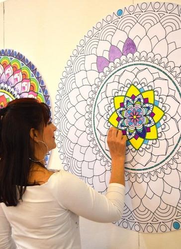 Mandalas Autoadhesivos Murales Listos Para Colorear - $ 100.000 en ...