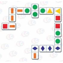 Edu-110 Dominó Figuras Geometricas Colores 28 Pzs 3+ Eduplas