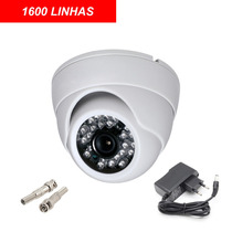 Camera Dome Ccd Infra Vermelho 24 Leds 30mts 1600 Linhas 3,6