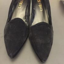 Sapato Alto Salto Scarpin Stylus - Preto Camurça Tam 38 Novo