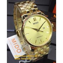 Relógio Masculino Mido Dourado Baroncelli Original