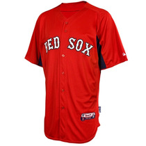 Jersey Majestic Oficial De Practica Boston Red Sox Casa